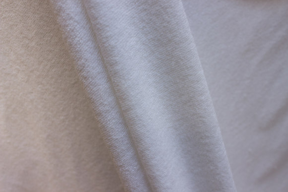 Off white stretch-terry-cloth in large width