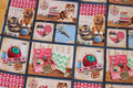 Patchwork-cotton with cute cats.