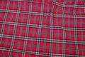 Red-checked cotton and polyester
