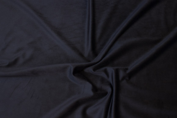 Smooth, firm corduroy in black