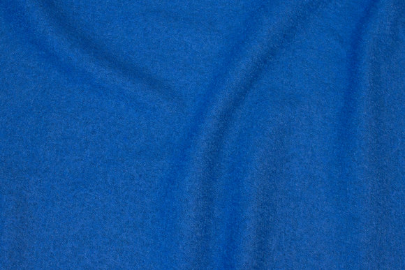 Royal blue, lightweight bouclé in wool and viscose