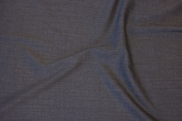 Speckled grey stretch-gabardine in wool and polyester