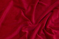 Stretch-velvet in deep red