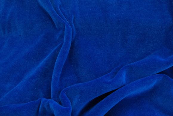 Stretch velvet - blue
