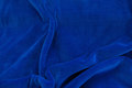 Stretch velvet - royal blue.