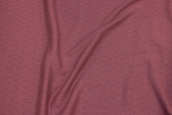 Hole-patterned cotton-jersey in light plum-colored
