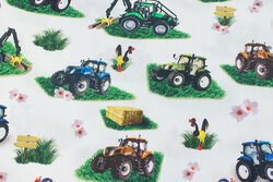 Light cotton with ca. 10 cm tractors