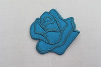 Turqoise rose iron-on-patch size 3.5 cm