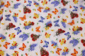 White patchwork-cotton with butterflies