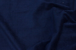 Wide-corded, navy pant-corduroy in cotton