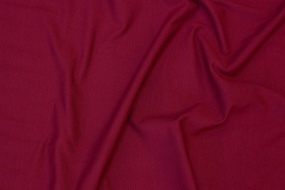 Wine-red cotton-jersey