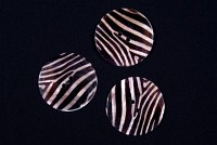 Zebra mother of pearl button, brown-beige stripes