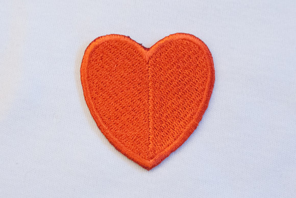 Big red heart 4x4cm