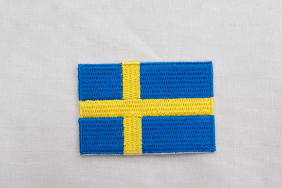 Swedish flag patch 3,5x5 cm