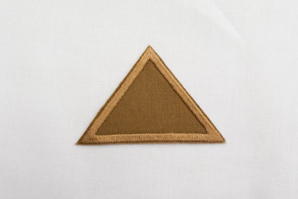 Triangle brown 4x6cm