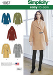 Simplicity 1067. Misses´ Easy-To-Sew Jacket or Coat.