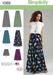 Simplicity 1069. Misses Wide Leg Trousers or Shorts and Skirts in 2 Lengths.