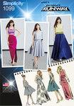 Misses´ Full Skirts, Slim Skirt and Tops