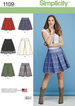 Simplicity 1109. Misses´ Skirts with Length and Trim Variations.