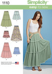 Simplicity 1110. Misses´ Tiered Skirt with Length Variations.