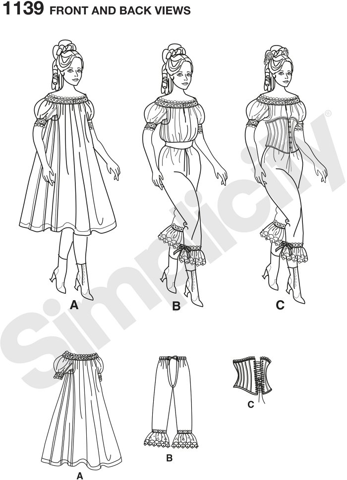 Misses authentic civil war drawers, chemise, and corset.