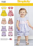 Toddlers´ dress, jumper, top, pantaloons and bolero