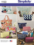 Simplicity 1153. Accessory Bags in Various Sizes.