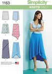 Misses Knit Skirts with Length Variations