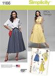 Misses Vintage Blouse, Skirt and Bra Top