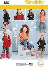 Child´s and Girls´ Tops, Trousers in Two Lengths and Skirt