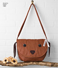 These adorable animal shoulder bags for adults include cat and fox with zippered top, and dog and owl with foldover top. Carla Reiss Design for Simplicity.