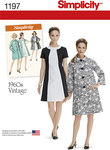 Misses´ Vintage Dress and Lined Coat
