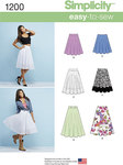 Simplicity 1200. Misses´ 3/4 Circle Skirt with Length Variations.