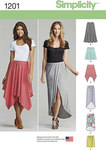 Misses Pull-On Knit Skirts with Length Variations