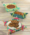 "Transport your cooking creations in style with these handy kitchen accessories; zippered casserole cover for 9"" X 13"" rectangular and 2.5 Quart oval dishes, bowl covers and gifting baskets each in three sizes."