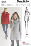 Simplicity 1254. Misses´ Leanne Marshall Easy Lined Coat or Jacket.