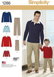 Boys and Mens Classic Trousers and Knit Shirt