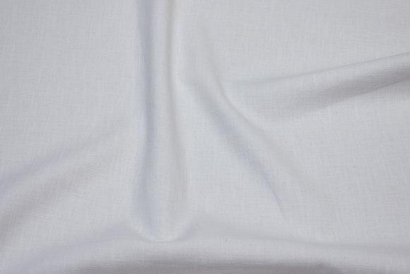 100%  linen, white