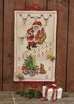 Permin 34-6228. Christmas calendar with santa claus on stairs.