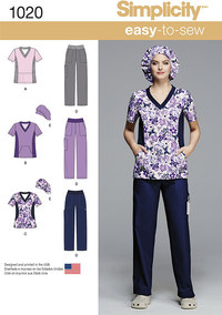 Misses´ and Plus Size Scrubs. Simplicity 1020.