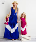 Child´s and Misses´ Maxi Dress and 18 inches Doll Clothes.