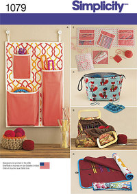 Knitting and Crochet Storage Accessories. Simplicity 1079.