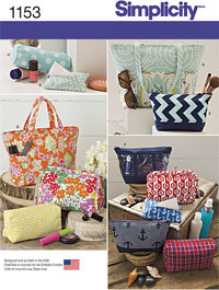 Accessory Bags in Various Sizes. Simplicity 1153.