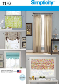 Window Treatments. Simplicity 1176.
