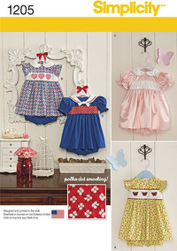 Babies´ Dress and Panties. Simplicity 1205.