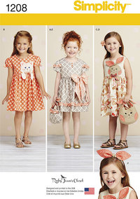 Child´s Dresses, Purses and Headband. Simplicity 1208.