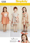 Your child will love these adorable dresses. Make a ruffle dress with bow, a dress with puff sleeve and kitty applique, and a sleeveless dress with bunny applique. Purses and headband also included. Ruby Jean´s Closet.