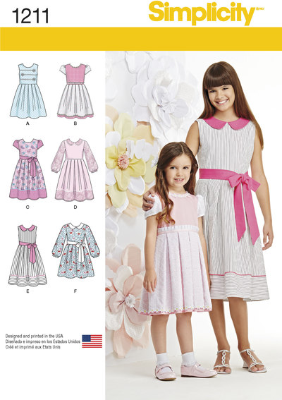 Child´s and Girls´ Dress in two lengths