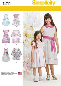 Child´s and Girls´ Dress in two lengths. Simplicity 1211.