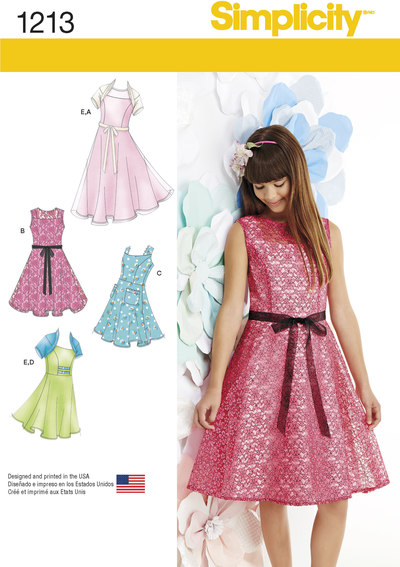 Girls´ and Girls´ Plus Dresses and Knit Shrug
